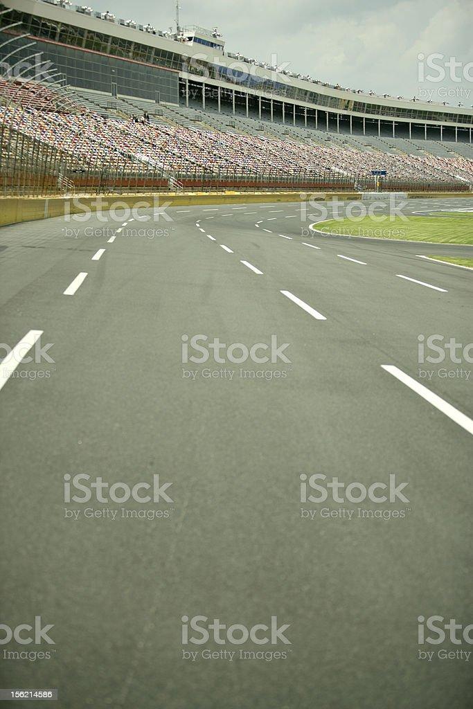 Stock Car Race track stock photo