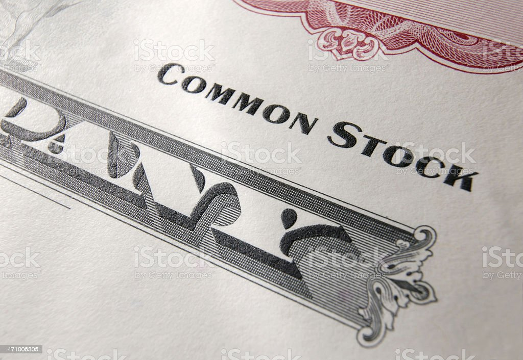 Stock Certificate 17 royalty-free stock photo