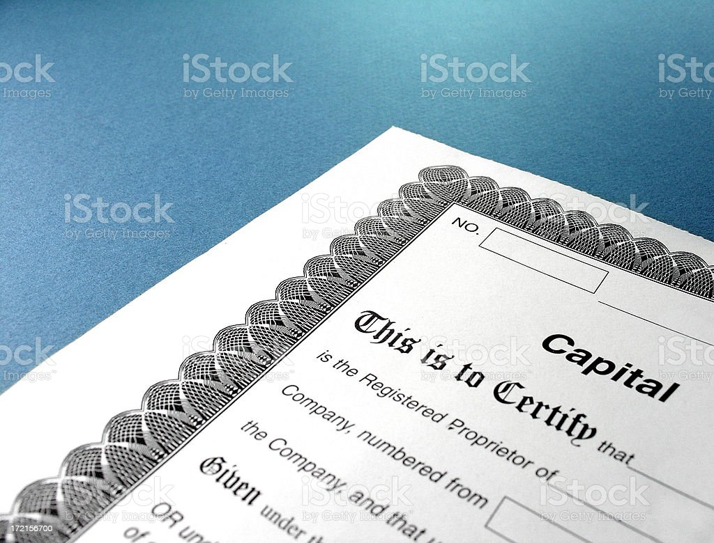 stock certificate 2 royalty-free stock photo