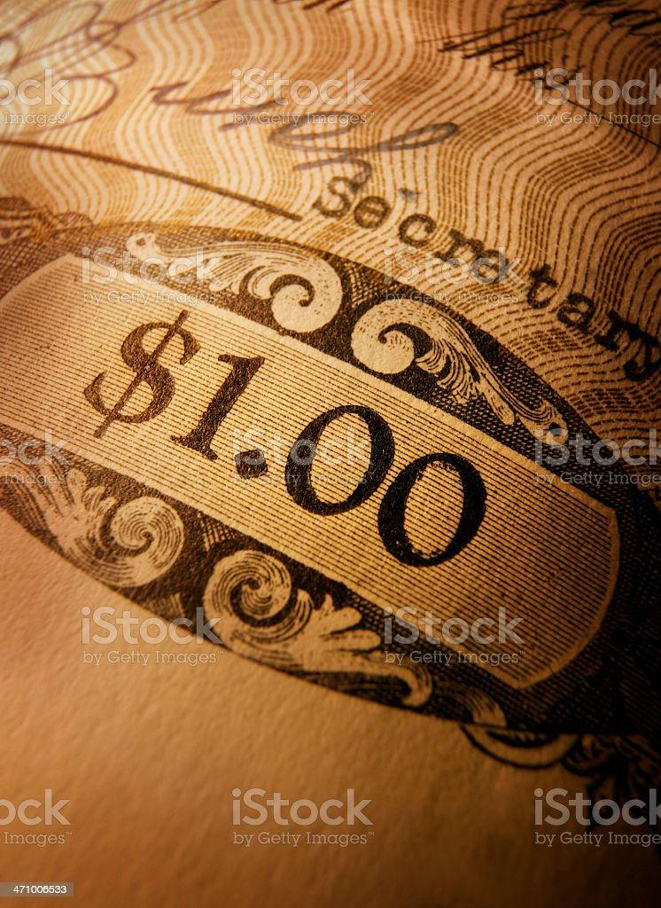 Stock Certificate 22 royalty-free stock photo