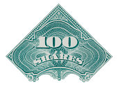 One hundred shares of stock.To see more stock certificates click on the link below: