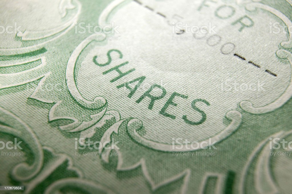 Stock Certificate 5 stock photo