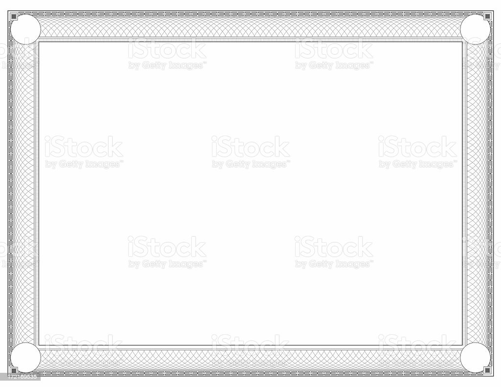Stock Certificate Border royalty-free stock photo