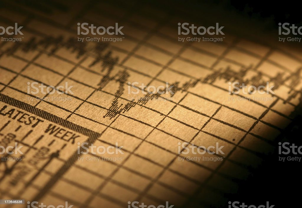 Stock Chart - Moving up royalty-free stock photo