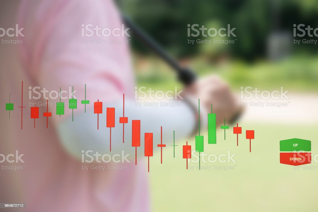 Stock chart performance royalty-free stock photo