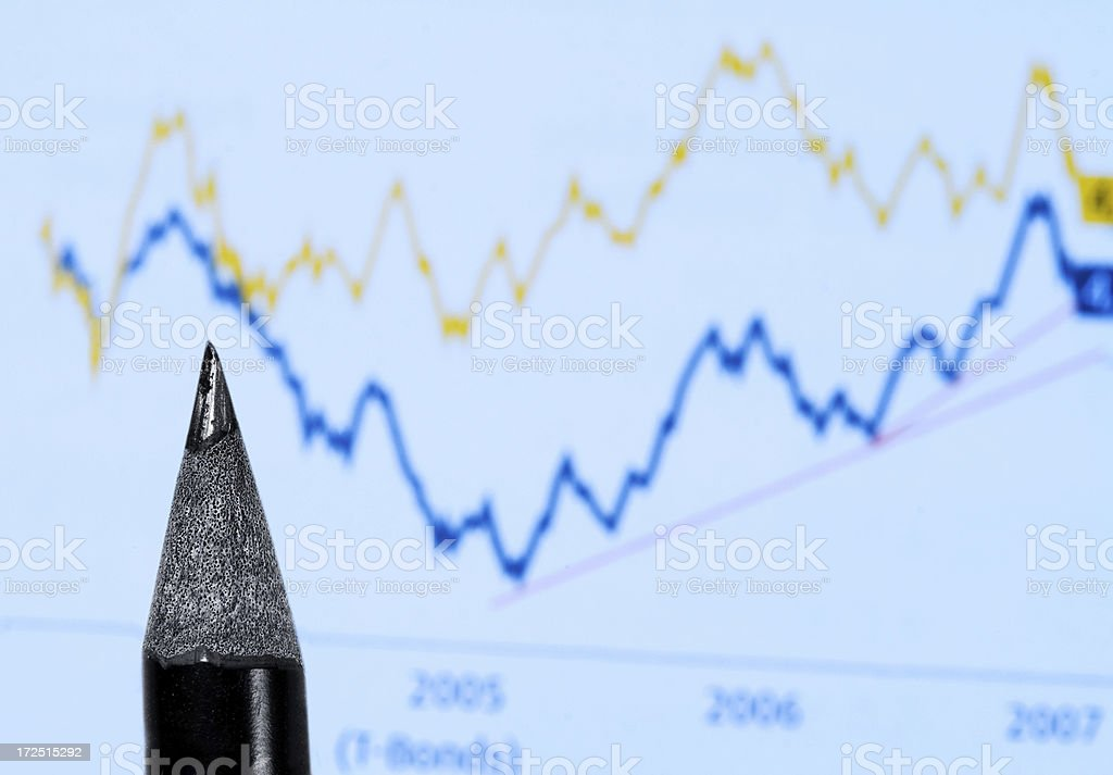 Stock Chart royalty-free stock photo
