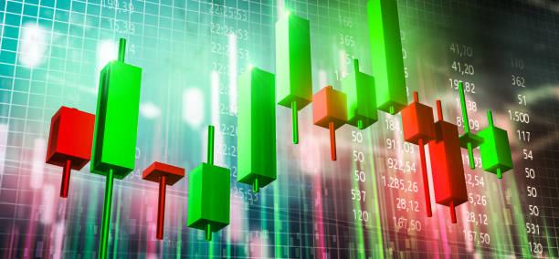 stock chart stock market - nyse crash imagens e fotografias de stock