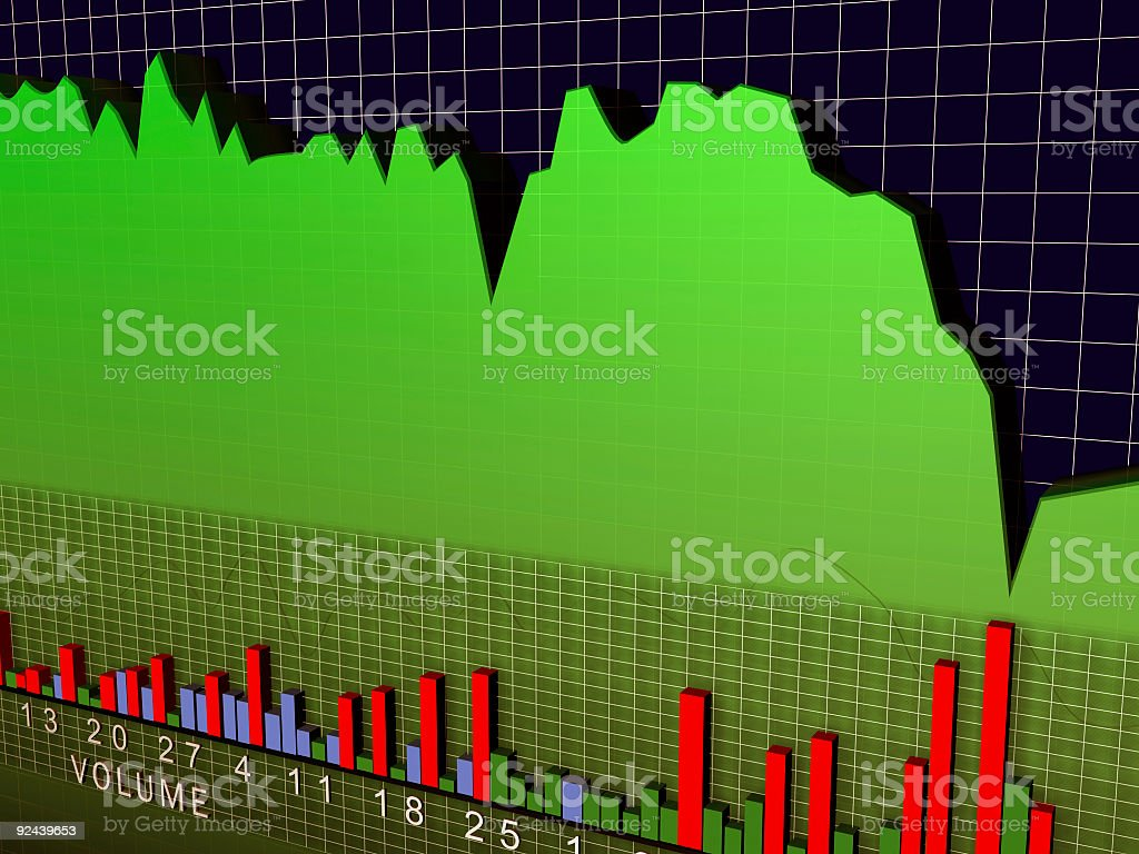 Stock Chart Volume 3D royalty-free stock photo