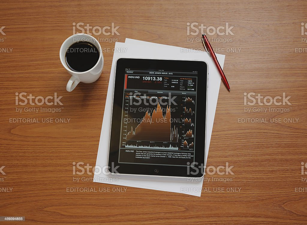 Stock Charts on iPad royalty-free stock photo