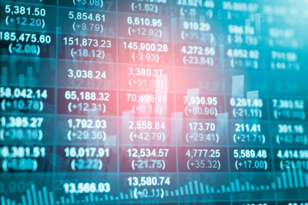 bestandsdaten indikator analyse am finanzmarkt handel diagramm - wirtschaftsrecht stock-fotos und bilder