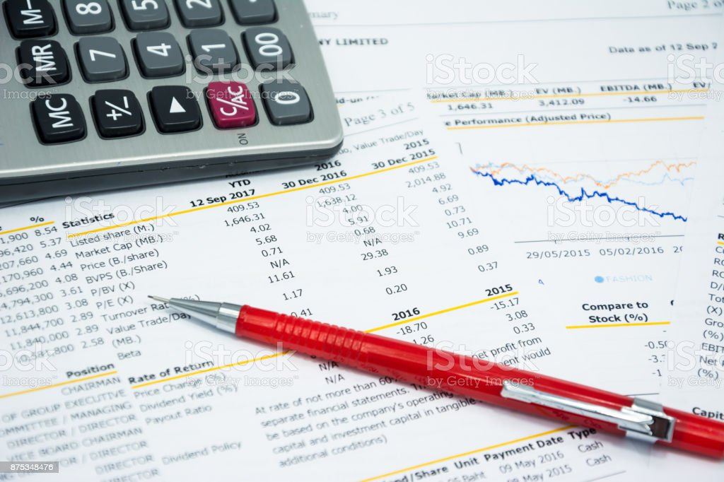 stock data number analysis for invesment stock photo