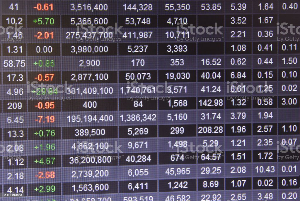 Stock Data stock photo