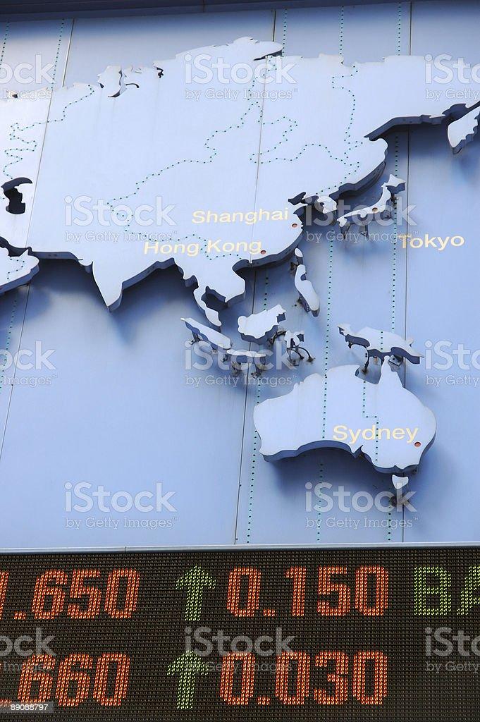 Los datos de mapa de stock foto de stock libre de derechos