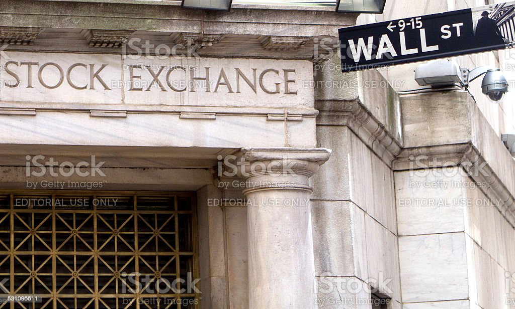 Stock exchange and Wall street stock photo