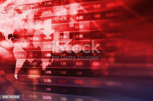 istock Stock exchange background design 636783356