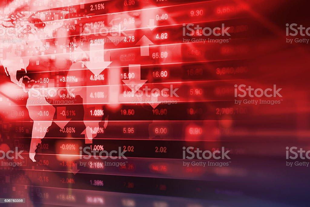 Stock exchange background design stock photo