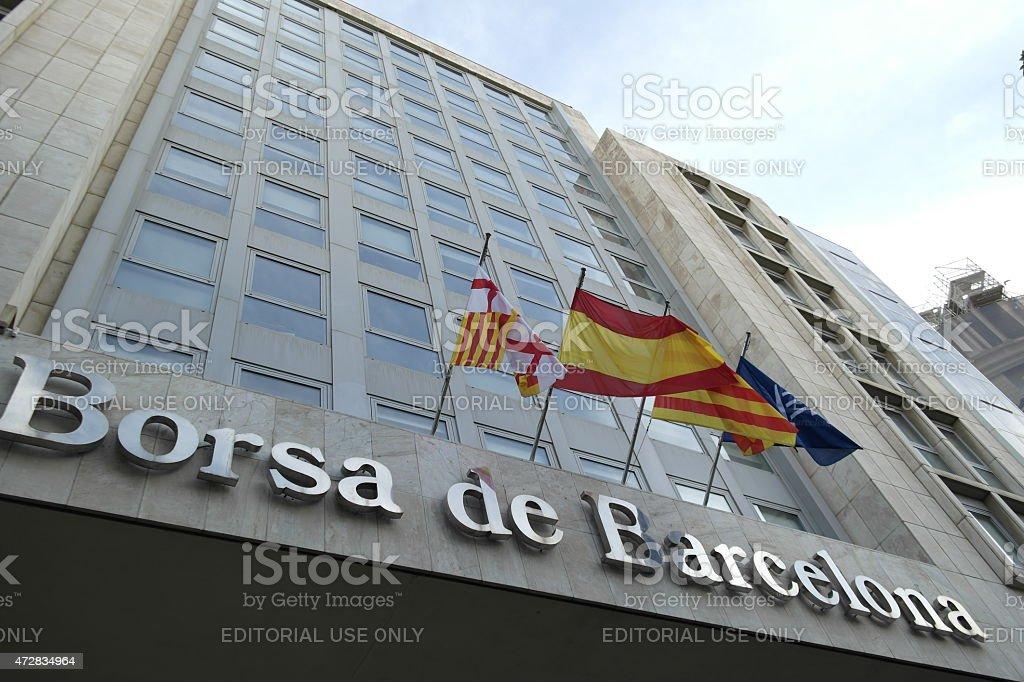 Stock Exchange  Barcelona stock photo