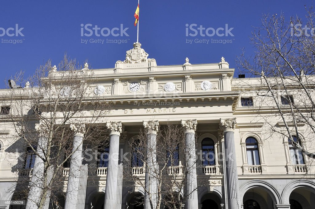 e0e4fe2464 Stock Exchange Building Madrid Stock Photo & More Pictures of ...