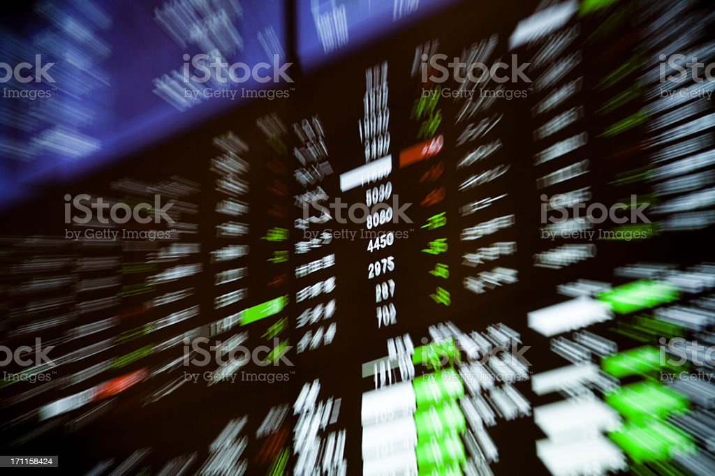 Stock Exchange Charts stock photo