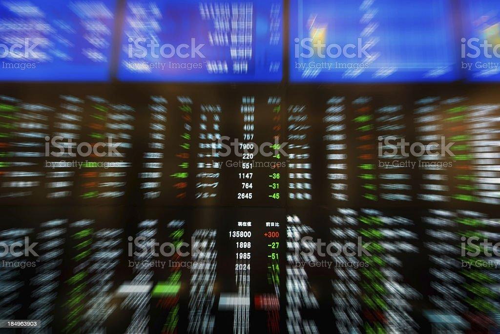 Stock Exchange Charts stock photo