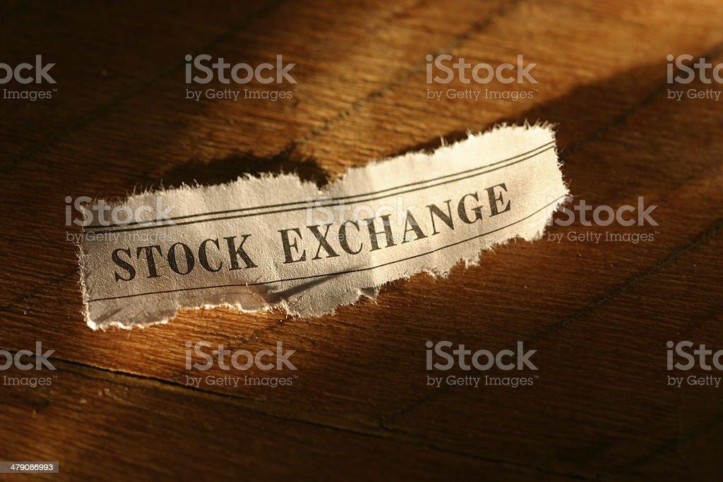 Stock Exchange Heading royalty-free stock photo