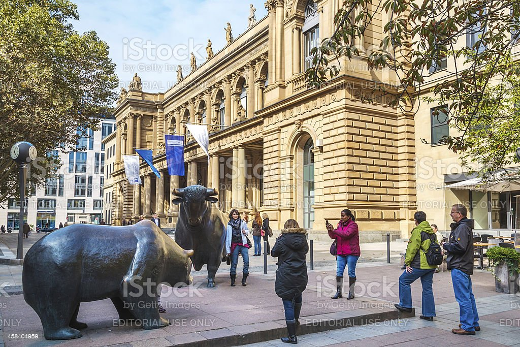 Stock Exchange in Frankfurt, Germany stock photo