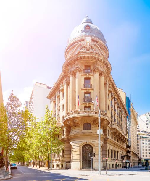 Stock Exchange in Santiago, Chile stock photo