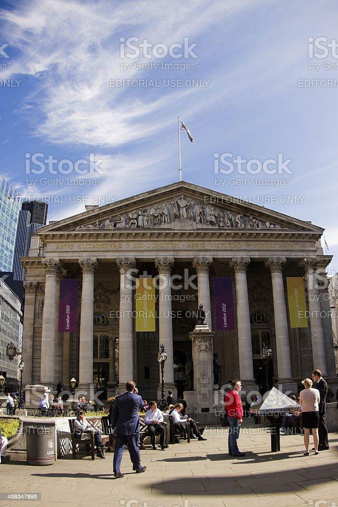 Stock Exchange London royalty-free stock photo