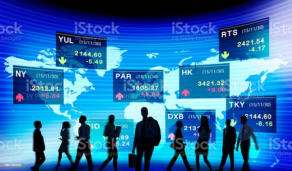 Stock Exchange Market Trading Concept stock photo