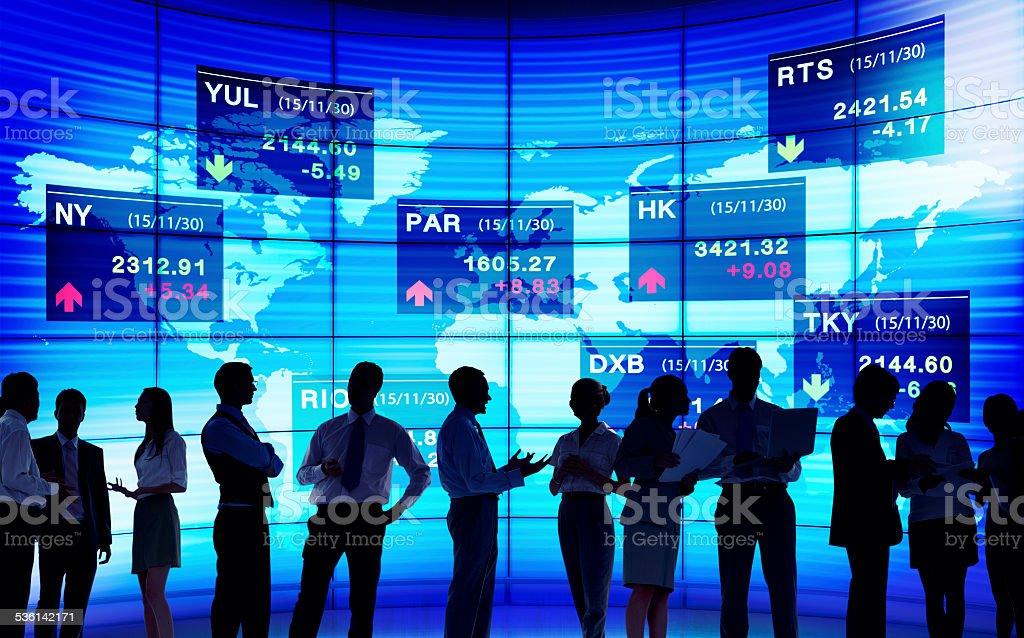Stock Exchange Market Trading Concepts stock photo