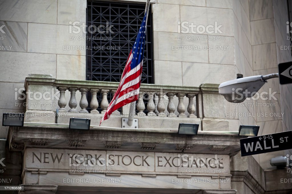 Stock Exchange New York City # 1 XXXL royalty-free stock photo