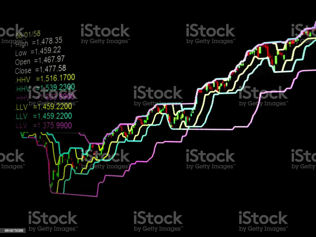 Stock Exchange of Thailand on the background soft blur royalty-free stock photo