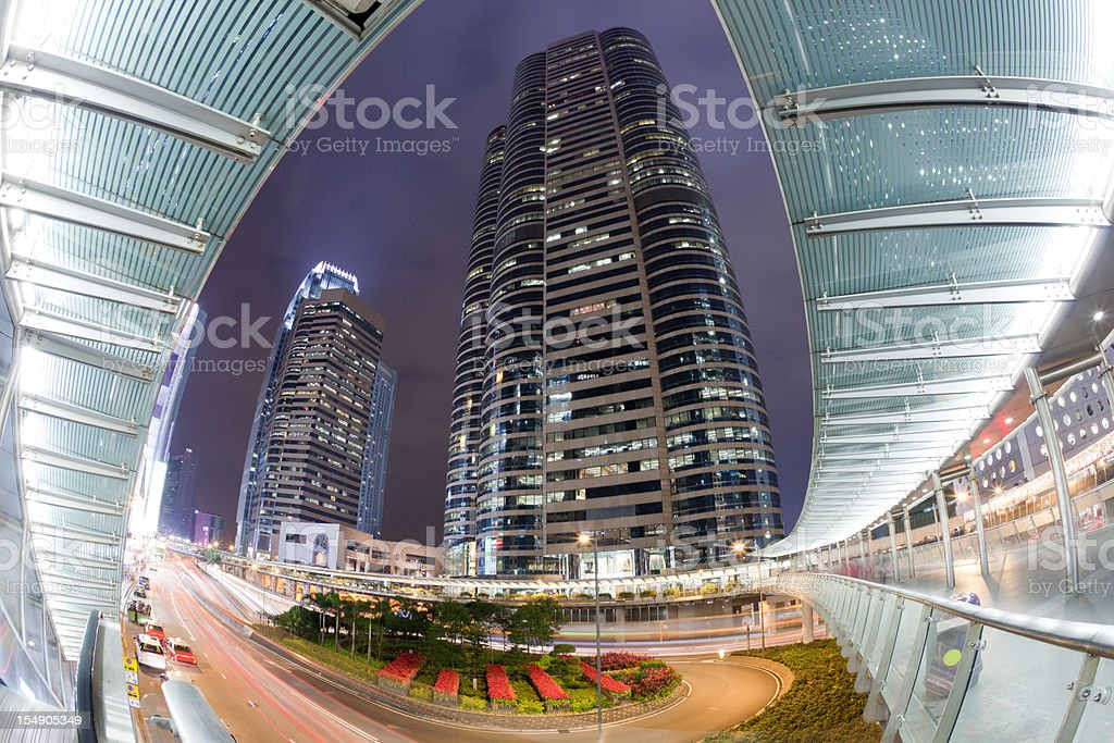 Stock Exchange Tower in Hong Kong royalty-free stock photo