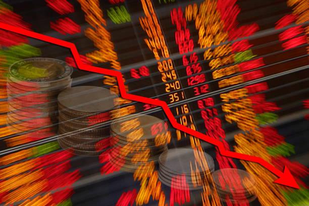 aktien fallen - börsencrash stock-fotos und bilder