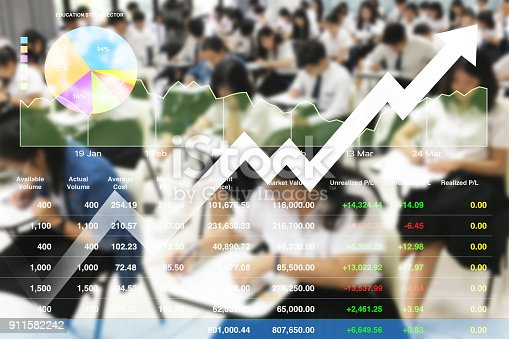 1148553584istockphoto Stock financial research data for university education  investment background with graph. 911582242