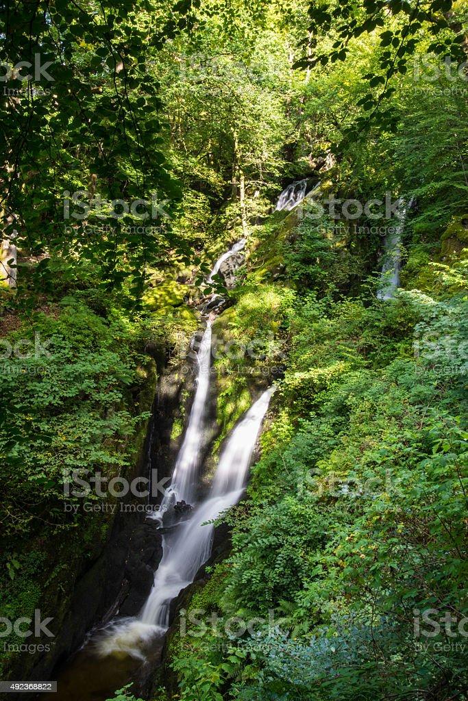 Stock Ghyll waterfall, Ambleside. stock photo