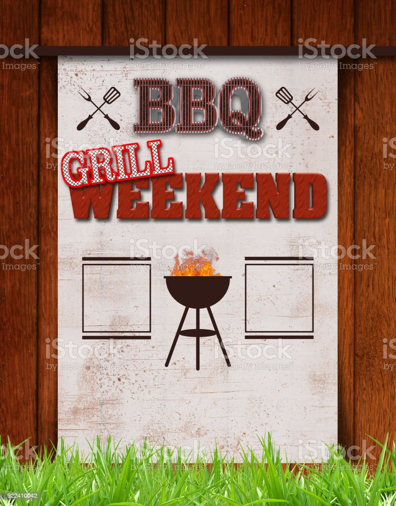 Stock Illustration - BBQ Weekend, stock photo