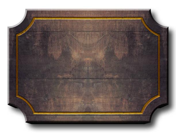 在庫ありイラスト - 空の木製看板 3 D 図では、白い背景のコピー スペース。 ストックフォト