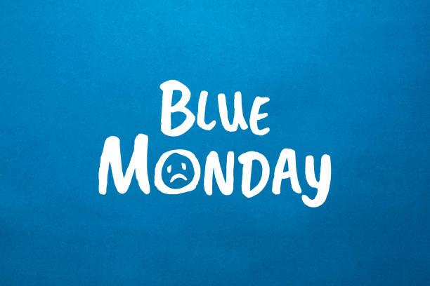 immagine di repertorio di un testo blu del lunedì - blue monday foto e immagini stock
