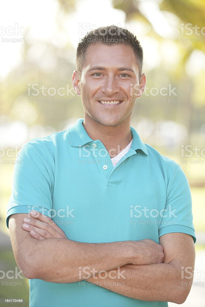 Stock image of a smiling man royalty-free stock photo
