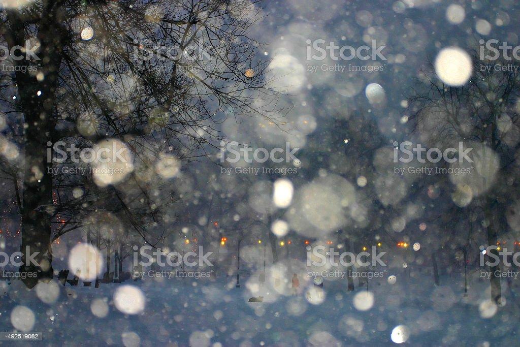 Stock image of a snowing winter at Boston, Massachusetts, USA stock photo