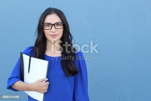 istock Stock image of female college student isolated 636244448