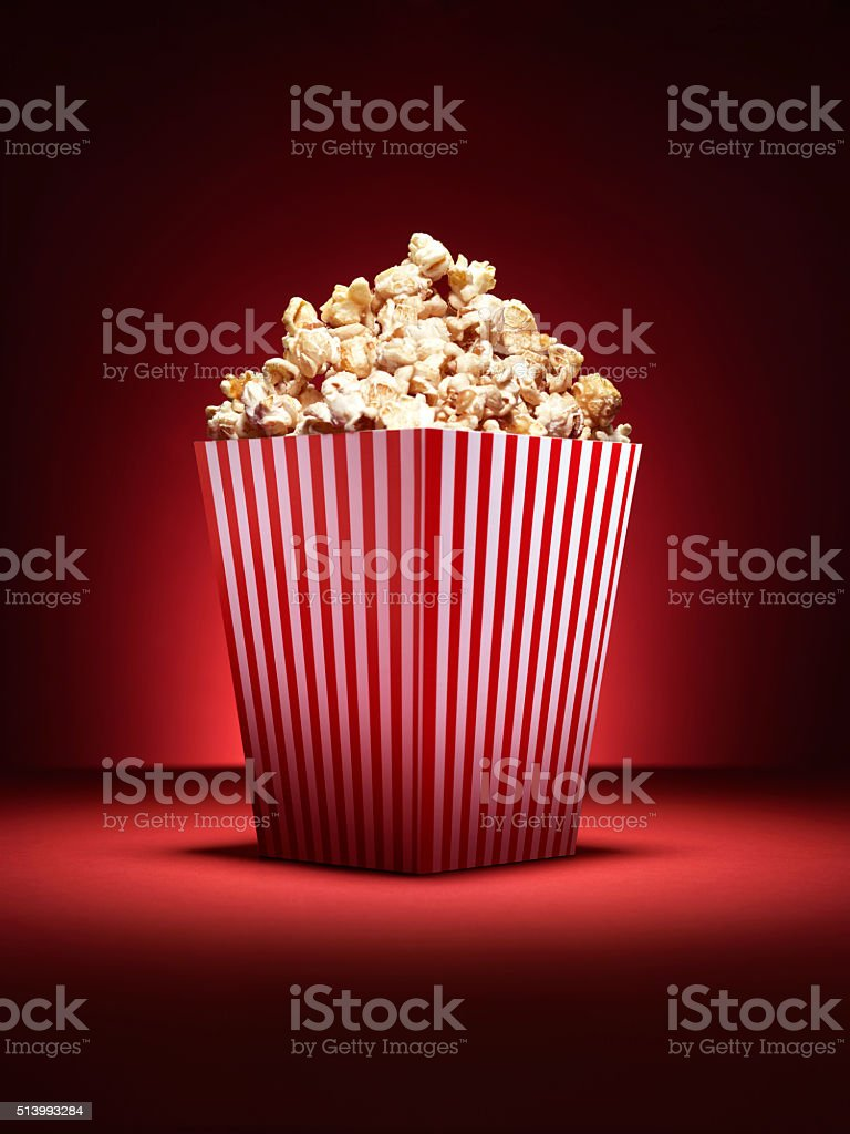 CINEMA POPCORN BOX - Stock Image stock photo