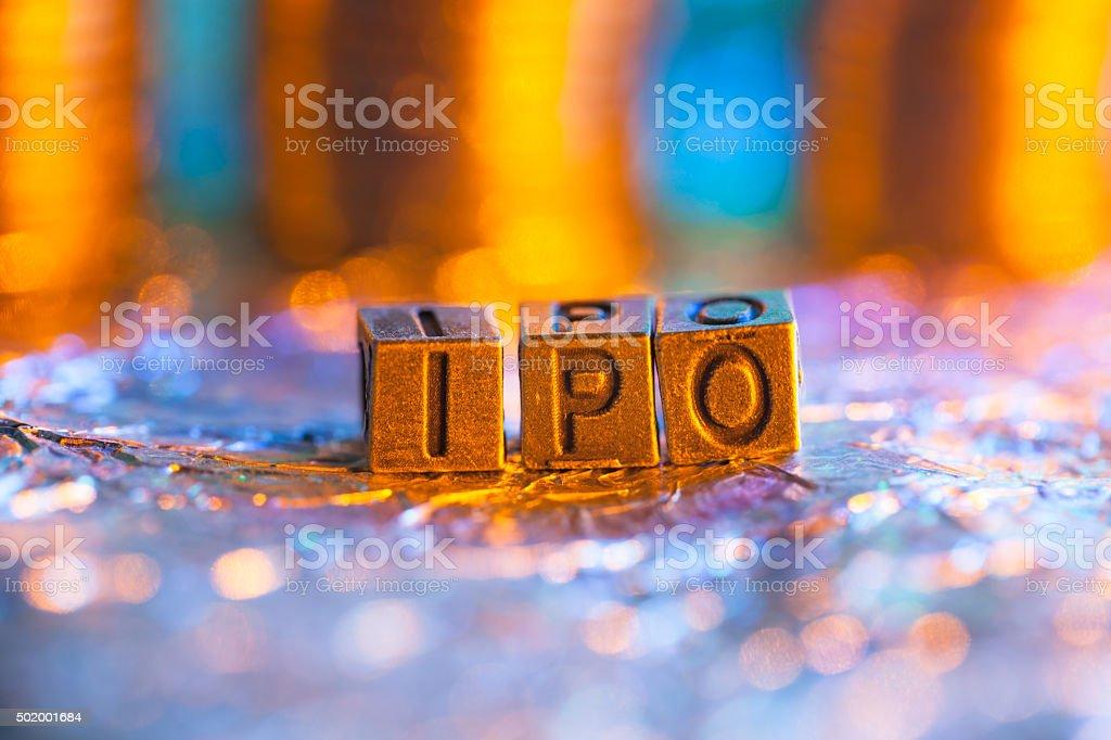 Stock IPO copper alphabet stock photo