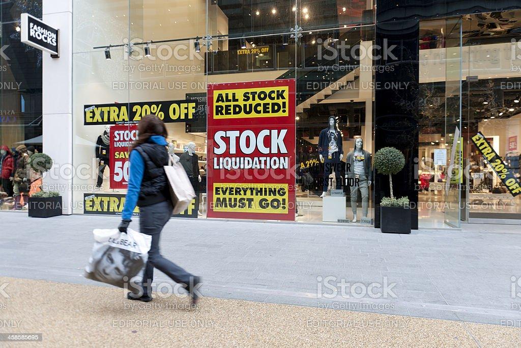 Stock Liquidation stock photo