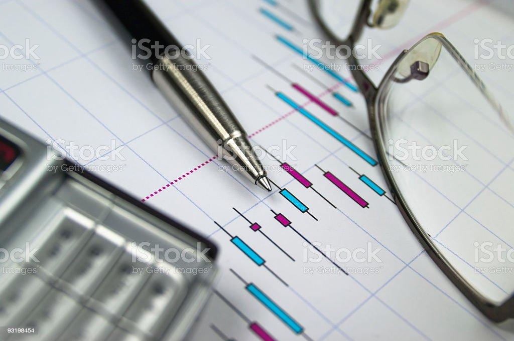 Stock Market analyse royalty-free stock photo