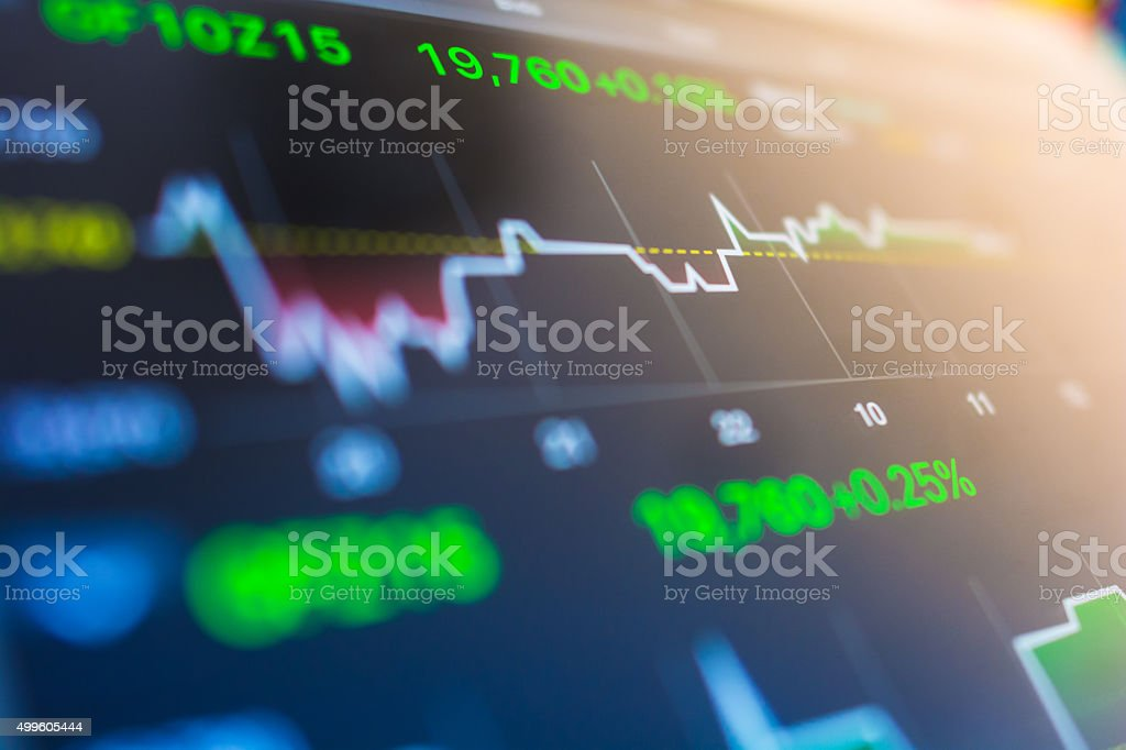 Stock Market Analysis In Digital Tablet Display Screen Stock Photo -  Download Image Now