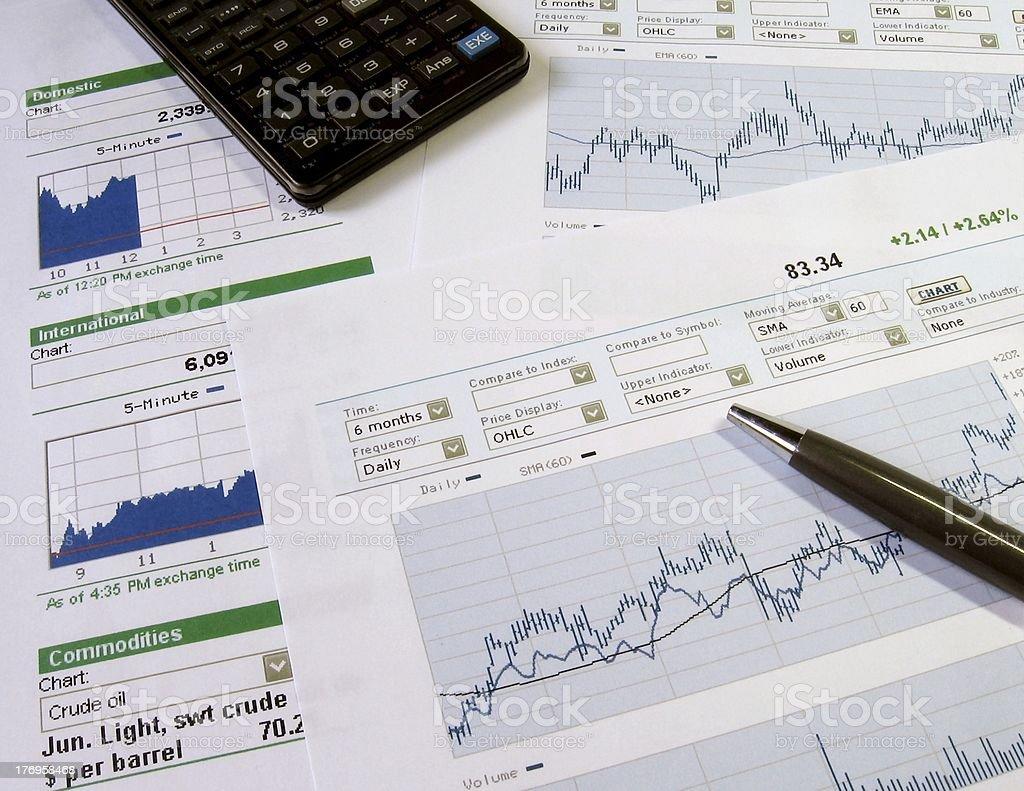 Stock market analysis royalty-free stock photo
