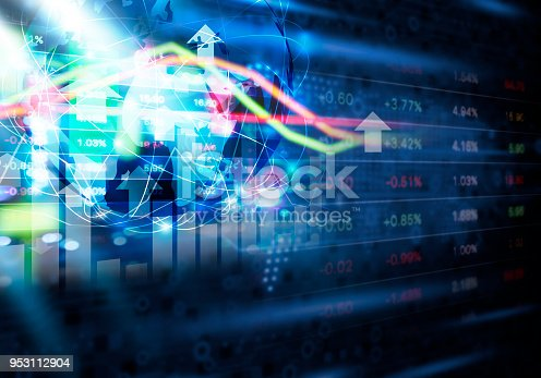 836972316 istock photo Stock market and global network connection abstract background design 953112904