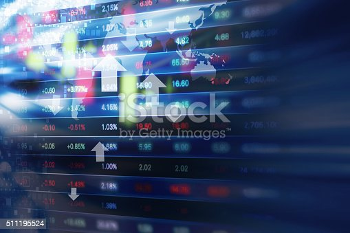 istock Stock market background design 511195524